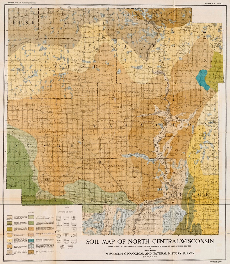 Wisconsin Geological Amp Natural History Survey  Plate 1