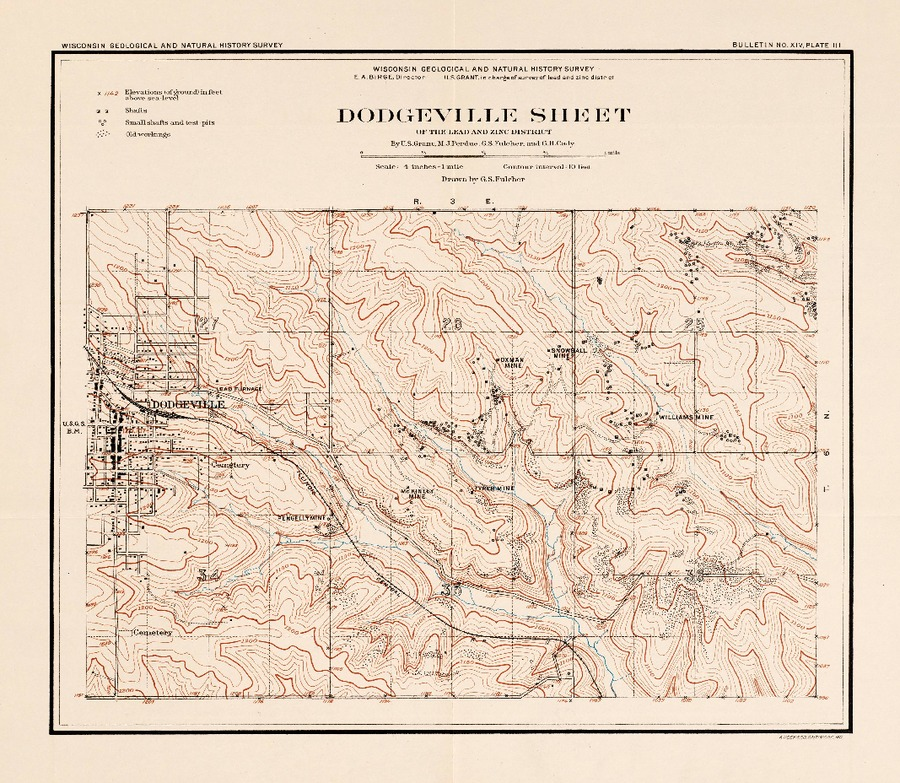 Plate 3 Dodgeville Sheet Of The Lead And Zinc District Topography