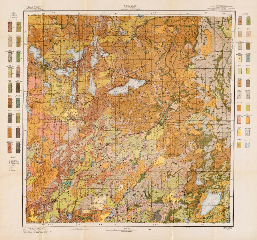 Wisconsin geological natural history survey soil survey of map 1 soil map wisconsin waukesha county sheet gumiabroncs Images