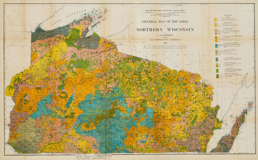Wisconsin Geological Natural History Survey Map 1 General Map
