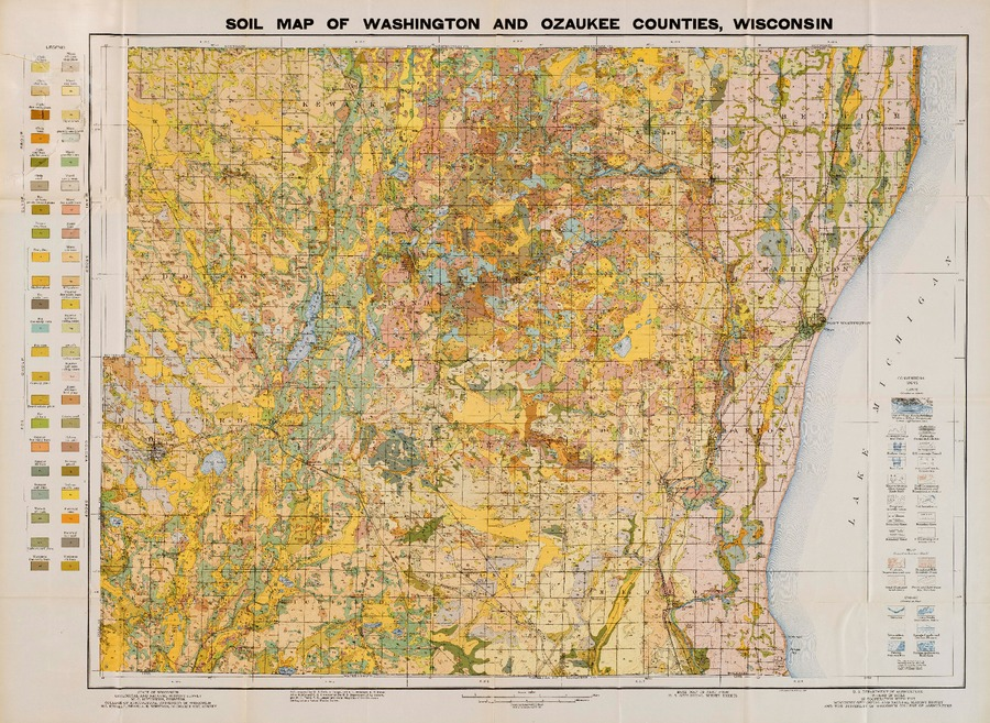 Wisconsin Geological Natural History Survey Map 1 Soil Map Of