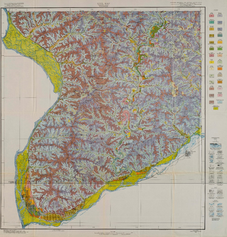Wisconsin Geological Amp Natural History Survey 187 Soil Map