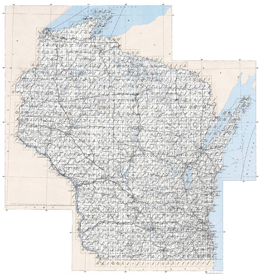 Index To Topographic Maps Of Wisconsin