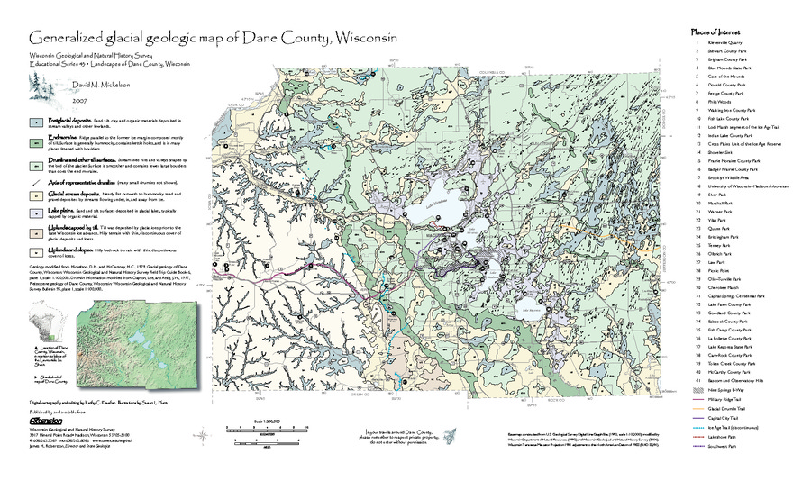 Wisconsin Geological & Natural History Survey » Generalized Glacial on