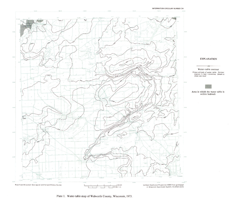 Wisconsin Geological Natural History Survey Plate 1