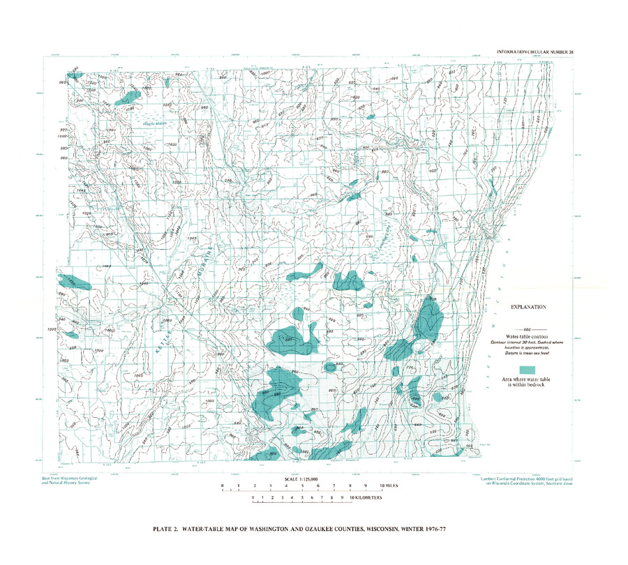 Wisconsin Geological Natural History Survey Plate 2