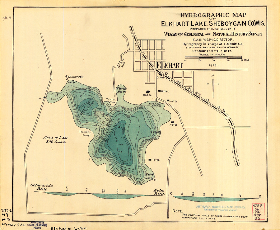 Wisconsin Geological & Natural History Survey » Hydrographic map of ...
