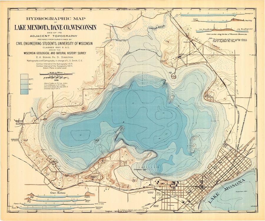 Wisconsin Geological & Natural History Survey » Hydrographic Map of on