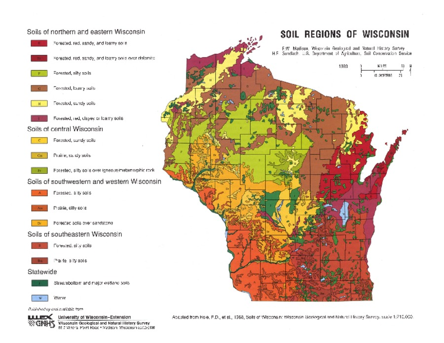 Wisconsin geological natural history survey soil for Soil and geology