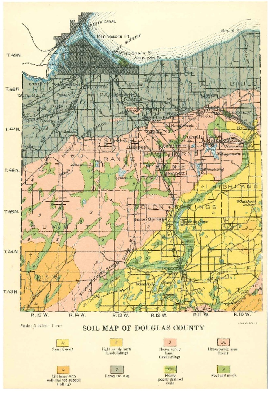 Wisconsin Geological & Natural History Survey » Soil Map of Douglas on