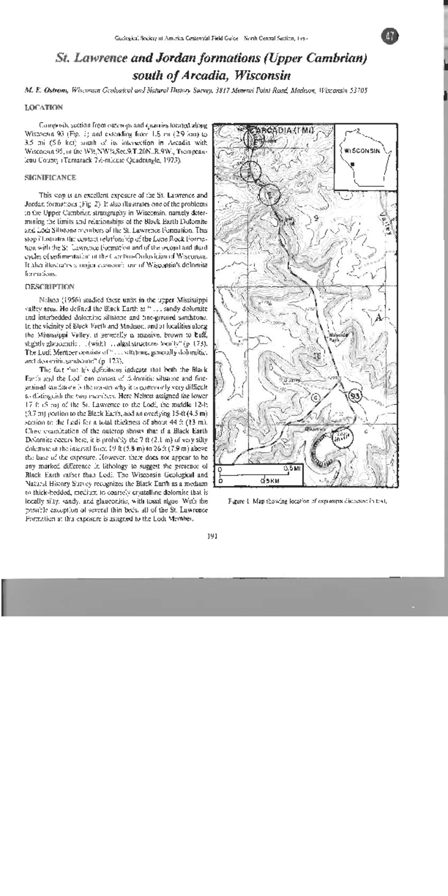Wisconsin Geological Natural History Survey Trempealeau County