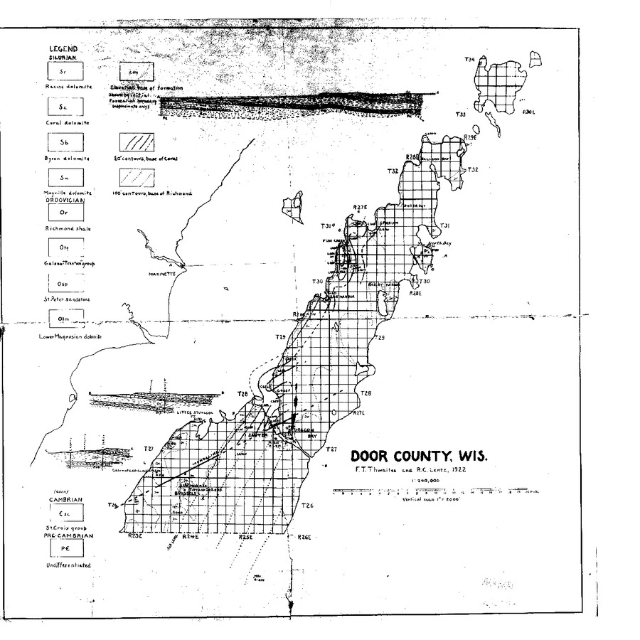 Wisconsin Geological & Natural History Survey » Bedrock Geology of on