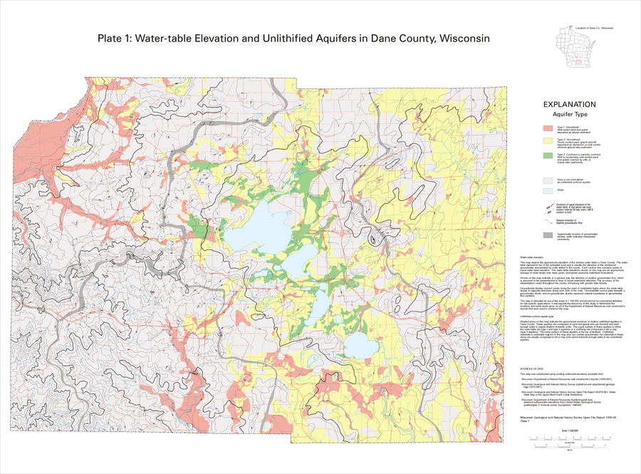 Wisconsin Geological & Natural History Survey » Hydrogeology of Dane on