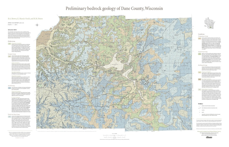 Wisconsin Geological & Natural History Survey » Preliminary Bedrock on