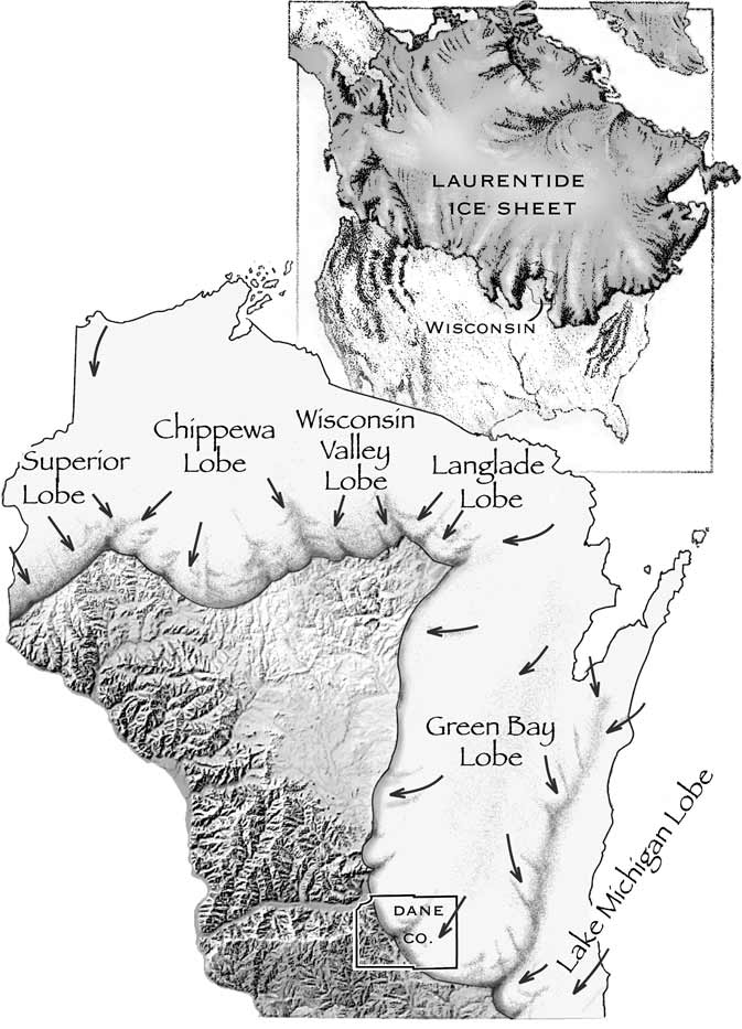 Wisconsin Geological & Natural History Survey » Ice Age geology