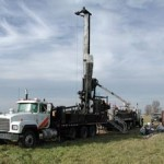 photo of drill rig in a field