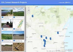 Image link to Eric Carson's projects story map