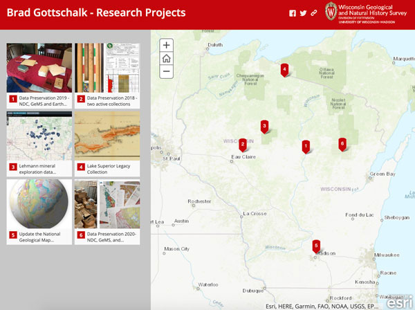 Screenshot of Brad Gottschalk's story map