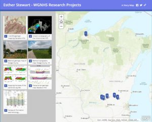Screenshot of Stewart's projects Storymap