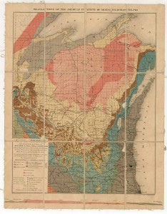 Irving's geologic map 1879