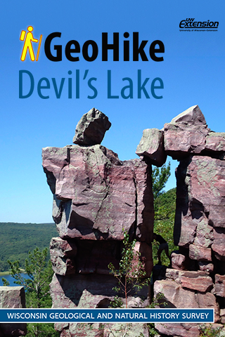 screen shot of GeoHike: Devil's Lake iPhone app (also available for iPad)