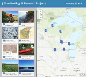 Screenshot of Rawling's projects Story Map