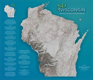 3-D Wisconsin Map