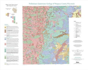 Preliminary Quaternary Geology of Waupaca County, Wisconsin (WOFR2015-03)