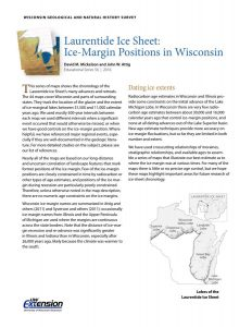 Cover from Laurentide Ice Sheet: Ice-Margin Positions in Wisconsin (ES056)