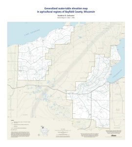 Water-table map of parts of Bayfield County