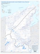 Water-table elevation map of Bayfield County, Wisconsin