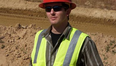 Mike Parsen at sand mine