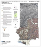 Link to open-file report and plates (southern Trempealeau County bedrock mapping project)