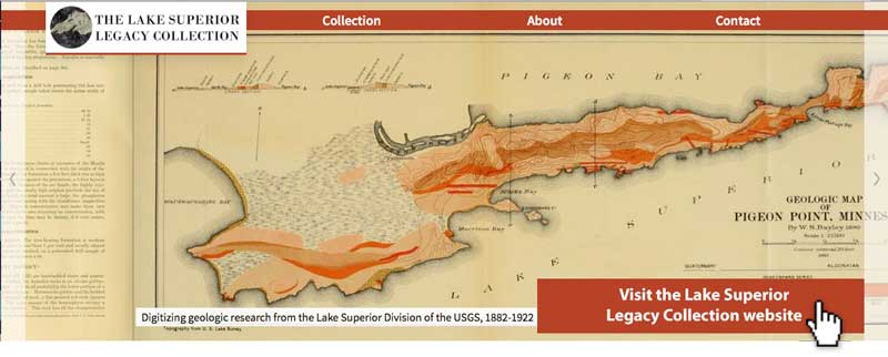 link to Lake Superior Legacy Collection site