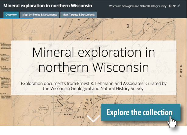link to the Mineral Exploration in Northern Wisconsin web app