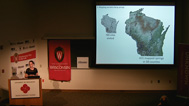 Grace Graham speaks about mapping Wisconsin's springs at Wednesday Nite @ the Lab
