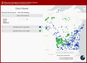 screenshot linking to WGNHS Data Viewer web app