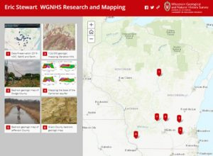 Image link to story map of Eric Stewart's research projects