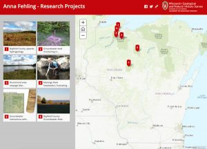 Screenshot of Anna Fehling's projects story map