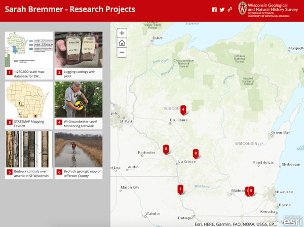 Screenshot of Sarah Bremmer's projects story map